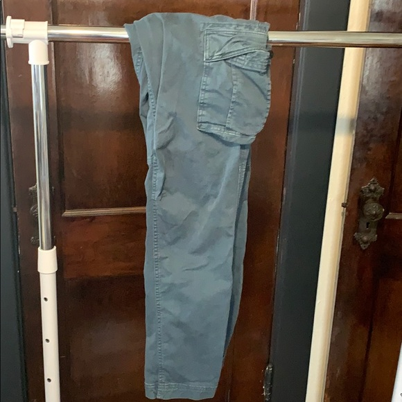 GAP lived-in teal cargo pants
